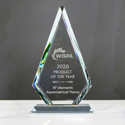 RF elements Asymmetrical Horns Voted for 2020 WISPA Product of the Year Award for the second consecutive year