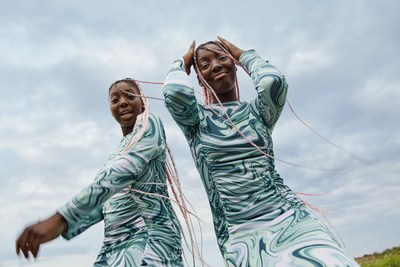 TikTok twins, Sash and Lala for Zalando's Summer Campaign, 'Activists of Optimism,' which aims to spread positivity and optimism, captured by photographer, Jorde Perez Ortiz.