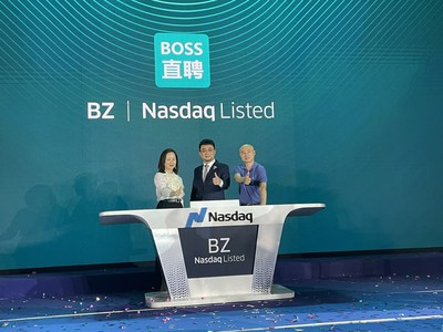 Ji Wei, Founding Managing Partner of Meridian Capital, Gaonan Zhang, Managing Partner of Meridian Capital with the Founder of Zhipin.com