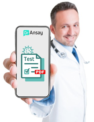 Doctor shows phone with COVID-test stock-photo edited by Can Ansay CEO