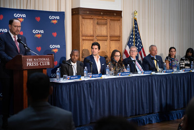 Goya Foods hosted a press conference at the National Press Club in Washington D.C., to announce the company's pledge of $2 million to combat child trafficking and to launch Goya Cares. Speakers included Bob Unanue, President   CEO of Goya Foods; Dr. Ben Carson, Founder   Chairman of The American Cornerstone Institute; Eduardo Verástegui, Producer of Sound of Freedom; Jennifer Hohman, Founder #FightForUs; Bob Cunningham, CEO   International Centre for Missing & Exploited Children; Antonio Fernandez, President   CEO of Catholic Charities, Archdiocese of San Antonio;   Ally Brito, The Eric Chase Foundation; and Kathy Givens, Survivor Overcomer, Twelve11 Partners.