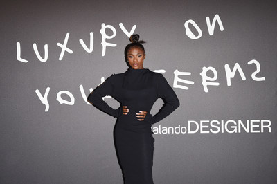 Dina Asher-Smith attends Zalando Designer Event 'Luxury on your Terms' at Milan Fashion Week on September 23, 2021 in Milan, Italy. (Photo by Stefania M. D'Alessandro/Getty Images for Zalando)